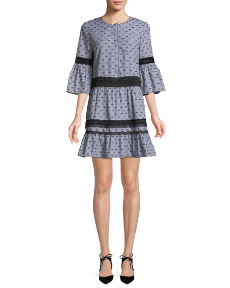 Joan 3/4-Sleeve Shift Dress
