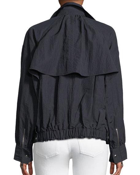 Techno-Taffeta Trench Jacket