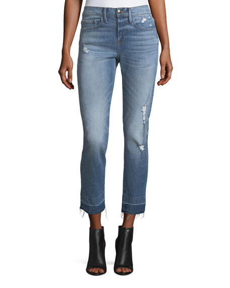 FRAME Le Boy Straight-Leg Wide Release Jeans