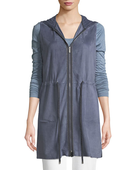 Salma Lush Suede Vest with Knit Back