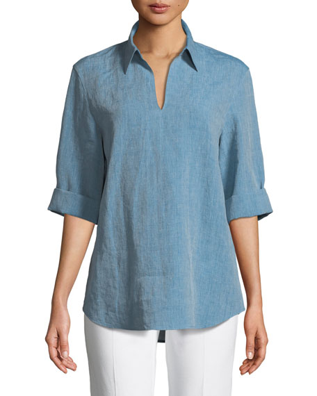 Brandice Illustrious Linen Blouse