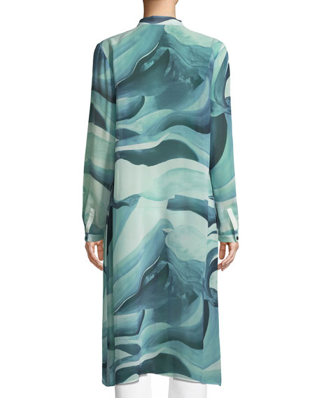 Auden Rio Chama Silk Duster Coat