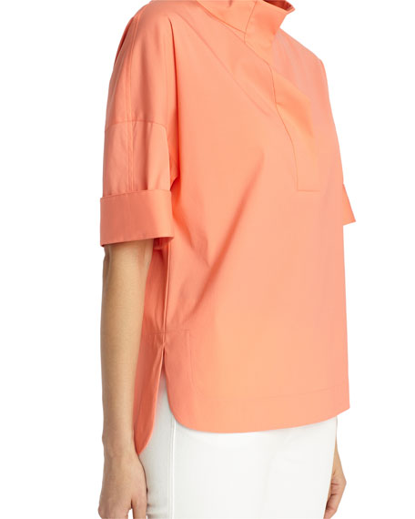 Silvia Italian Stretch-Cotton Blouse
