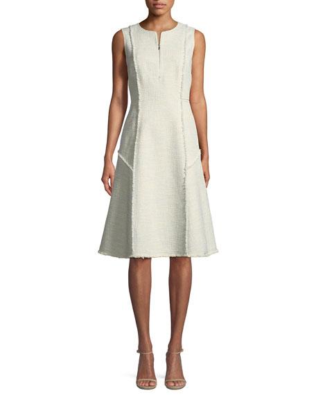 Adrienne Morning Dew Tweed Dress