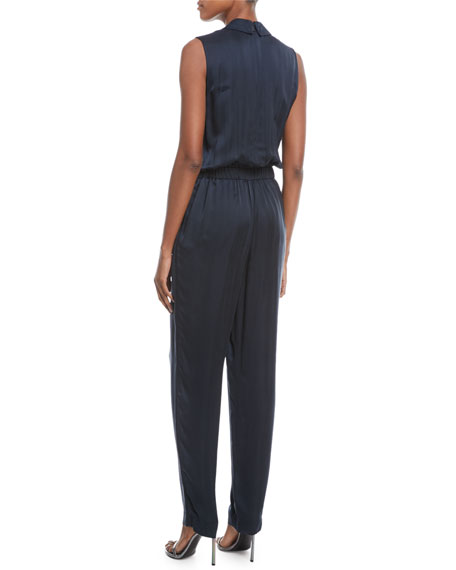 Jett Satin Sleeveless Jumpsuit