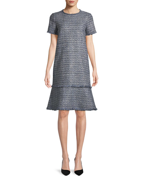Saria Exhibition-Tweed Shift Dress