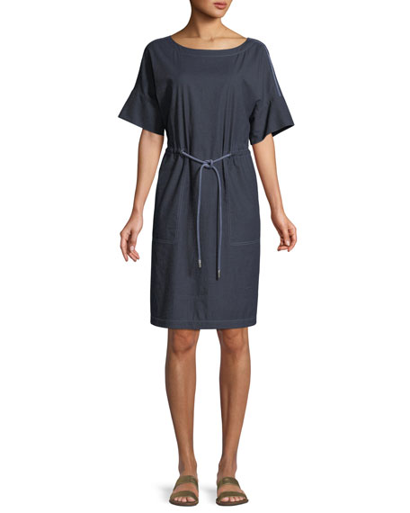 Lafayette 148 New York Brandon Stretch-Denim Shift Dress