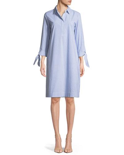 Talia Sartorial-Stripe Shirtdress