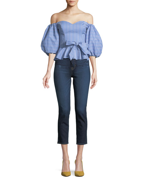 Holly High-Rise Skinny-Leg Cropped Jeans