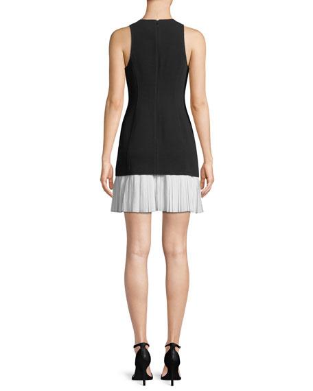 Catriona Sleeveless Pleated-Skirt Dress