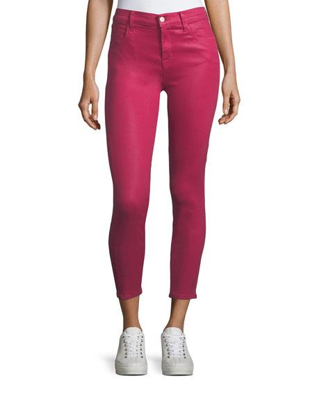 J Brand Alana High-Rise Cropped Coated Jeans