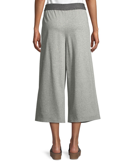 Charmeuse-Waist Cropped Pants