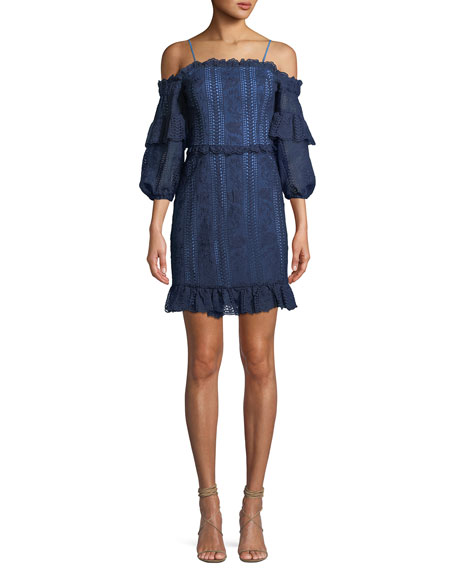Irma Lace Cold-Shoulder Mini Dress