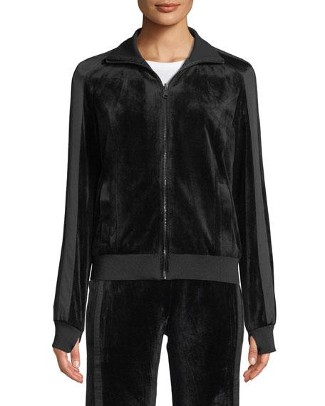 Blanc Noir Zip-Front Reversible Posh Track Jacket