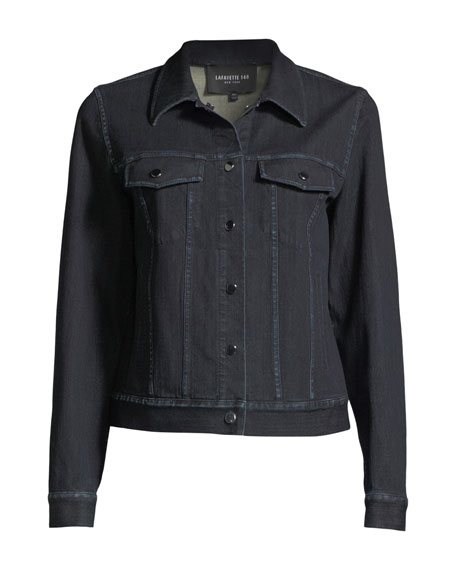 Destiny Prestige Denim Snap-Front Jacket