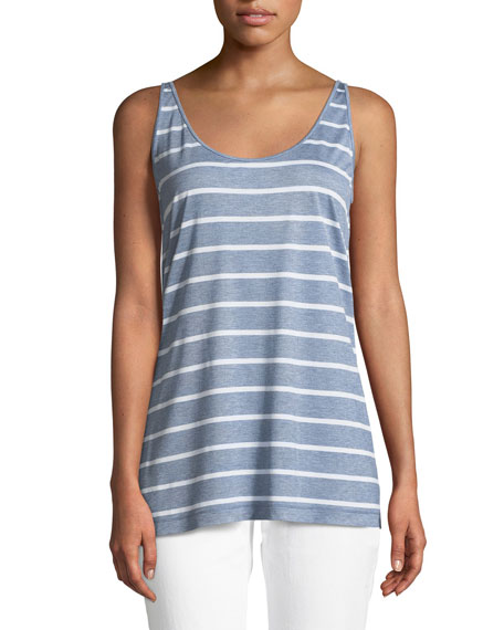 Ivy Striped Featherweight-Jersey Tank