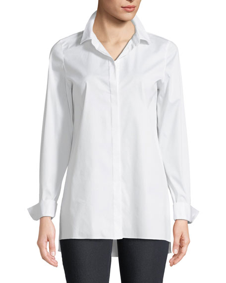 Lafayette 148 New York Brayden Excursion-Stretch Blouse