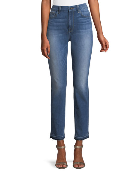 Skinny Ankle Jeans with Released Hem