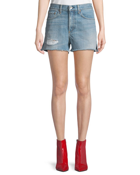 Justine High-Rise Denim Shorts