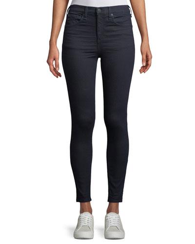 High-Rise Skinny Jeans, Dark Blue