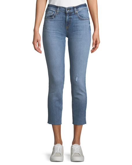 Rag & Bone Slim Boyfriend Jeans w/ Raw