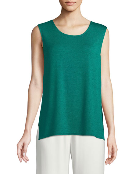 Gauze Knit Longer Tank, Petite