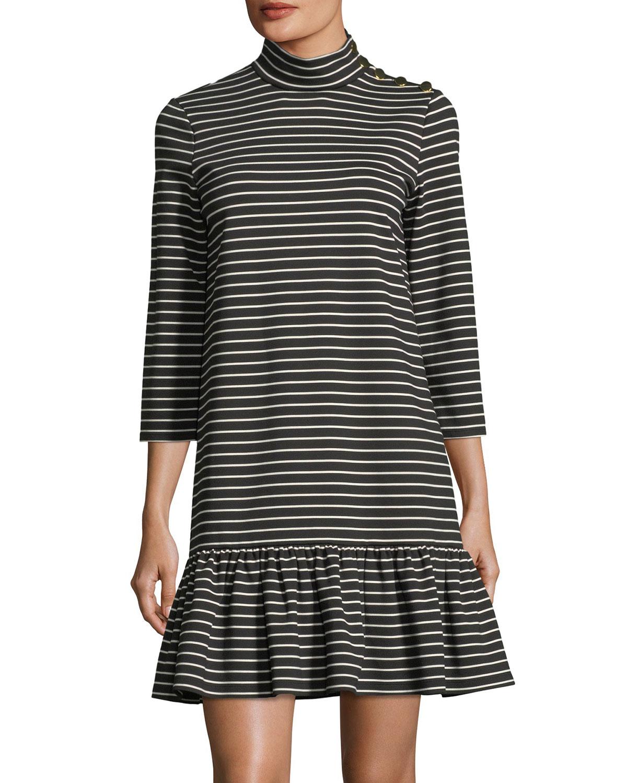 d839c5c99595 kate spade new york mock-neck stripe knit mini dress