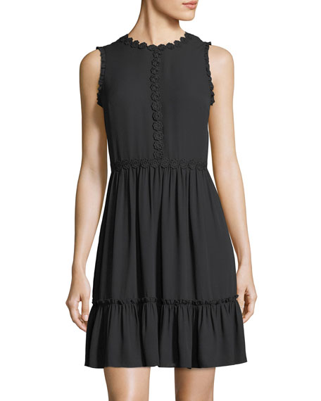 kate spade new york floral lace trim sleeveless