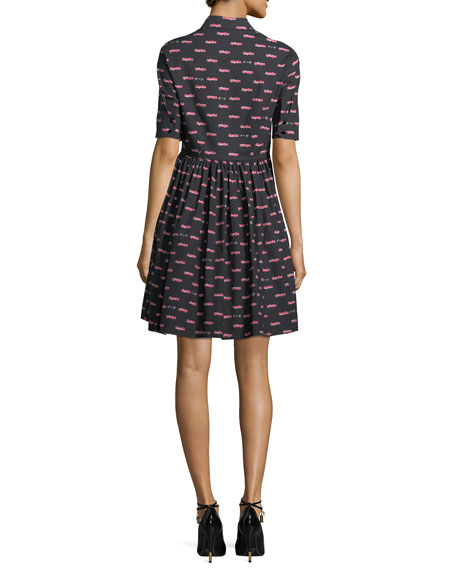 hot rod poplin mini a-line dress