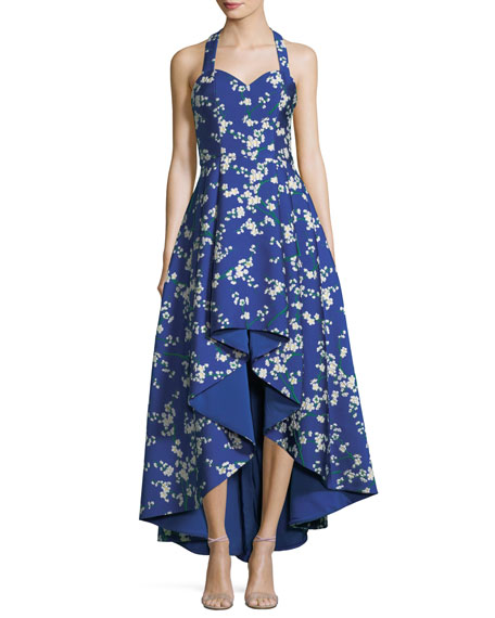 Alice + Olivia Harper Sweetheart Floral-Print High Low