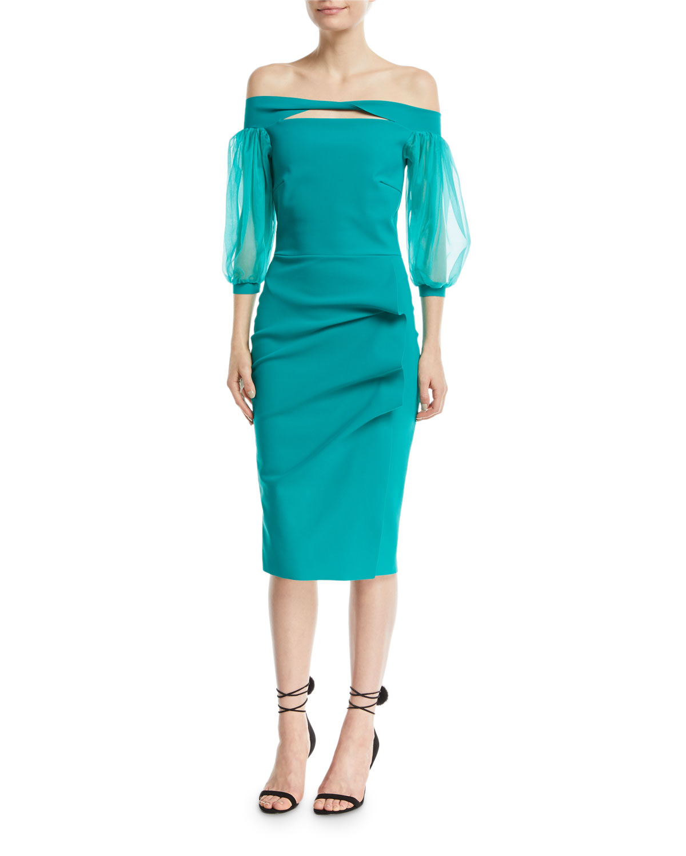 Keyhole Cocktail Dress   Neiman Marcus