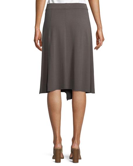 Knee-Length Jersey Faux-Wrap Skirt, Petite