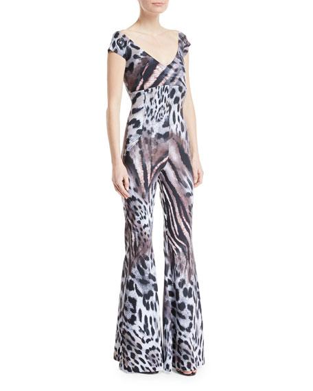 Chiara Boni La Petite Robe Thofa Animal-Print Flared