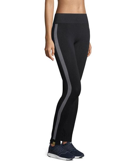 Hi-Tech Side-Stripe Seamless Performance Leggings