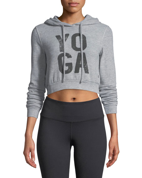 Alo Yoga Getaway Cropped Hoodie Sweatshirt