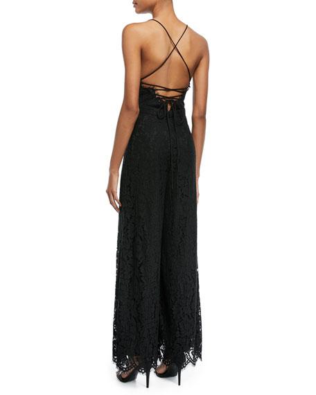 Jade Corded Lace Crisscross Jumpsuit
