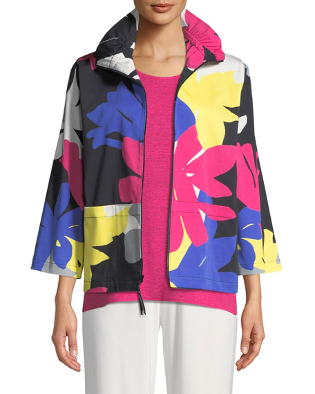 Caroline Rose Petal Pusher Printed Jacket and Matching