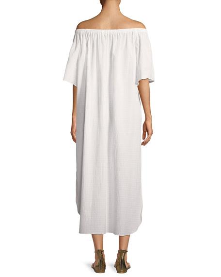Kamala Off-the-Shoulder Short-Sleeve Coverup Dress