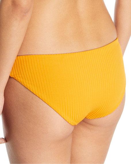 Zoa Tonal-Striped Solid Swim Bottoms