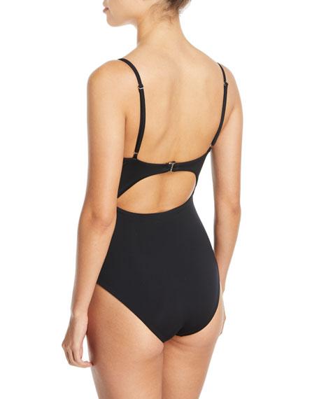 Kia Cutout One-Piece Swimsuit - Black