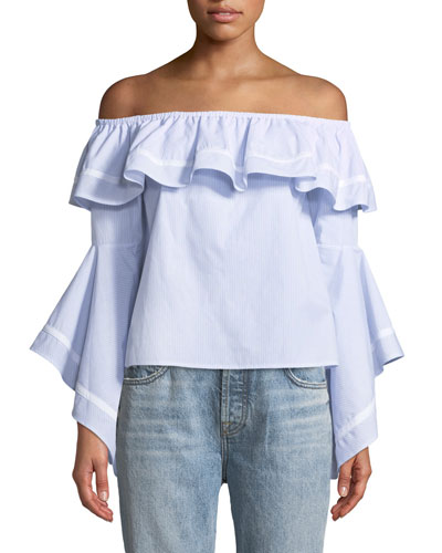 Feri Ruffle Off-The-Shoulder Top