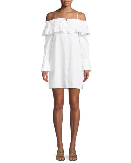Rebecca Minkoff Pallas Off-The-Shoulder Mini Dress