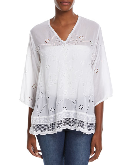 Johnny Was Charming Embroidered Tunic