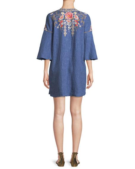 Kitti Lace-Up Swing Dress