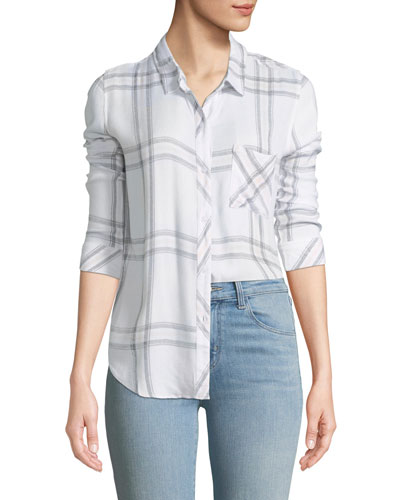 Hunter Button-Front Check Shirt