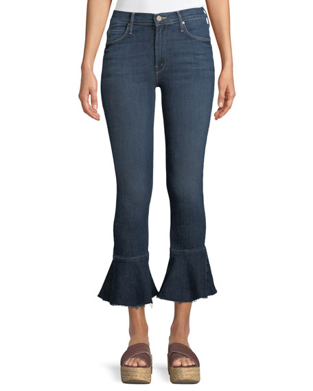 MOTHER Cha Cha Fray Ankle Jeans