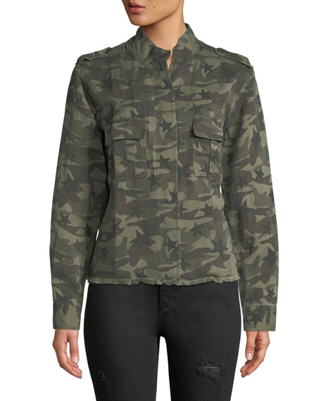 Hendrick Button-Front Camo Jacket