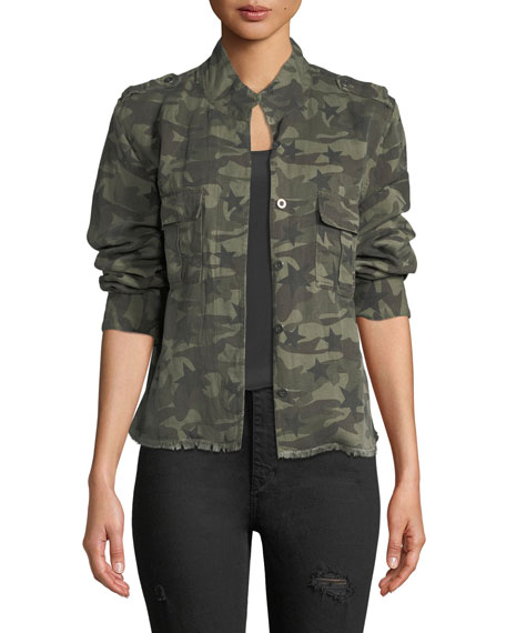 Rails Hendrick Button-Front Camo Jacket