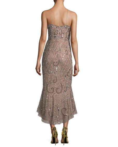 Beaded Mermaid Slip Midi Dress