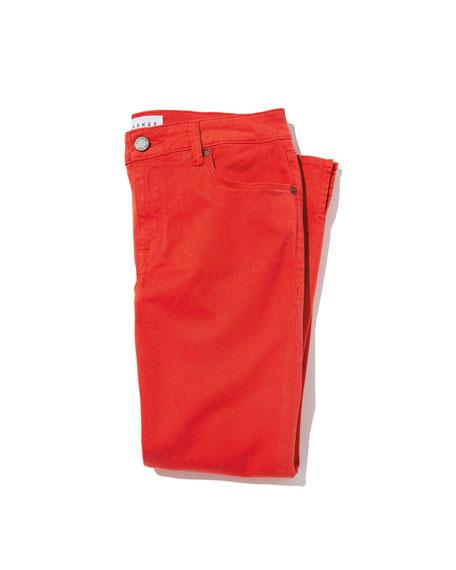 Pedal Pusher Straight-Leg Pants